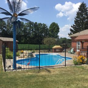 pool with security fence